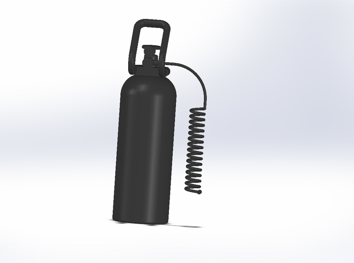 CO2 Tank With Hose 3d printed