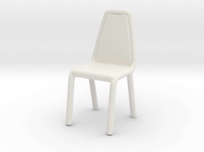 1:48 Vinyl Stacking Chair 3d printed