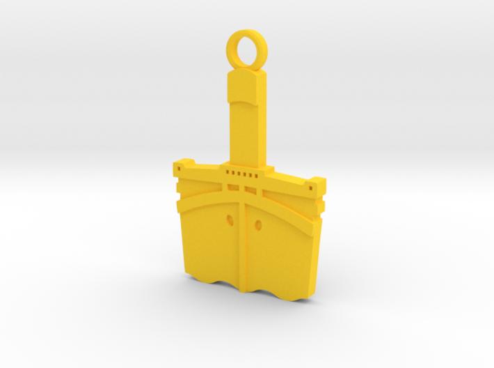Titanic Pendant: Bow Profile 3d printed