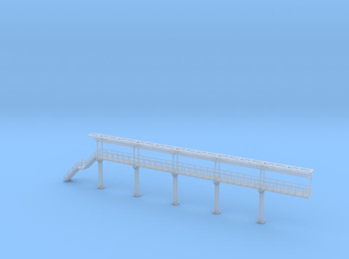 N Scale Tank Car loading Platform 5 End Section 3d printed