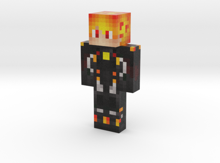 3D_fire_boy | Minecraft toy 3d printed