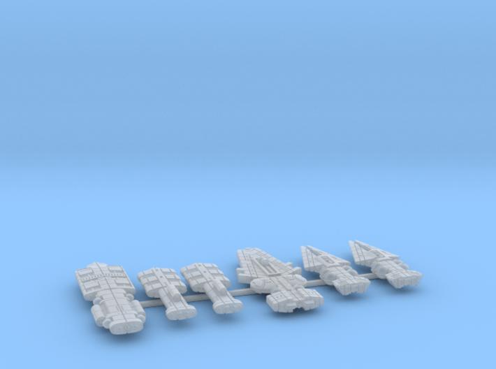 QSR Package: KON versus GSN (sprued) 3d printed