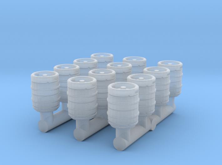 12 Bierfässer (N 1:160) 3d printed