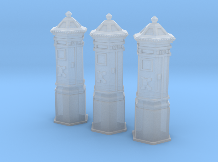 SET 3x Penfold Pillar box (British N 1:148) 3d printed