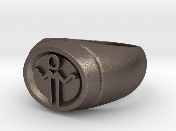 Grey Lantern Ring 3d printed
