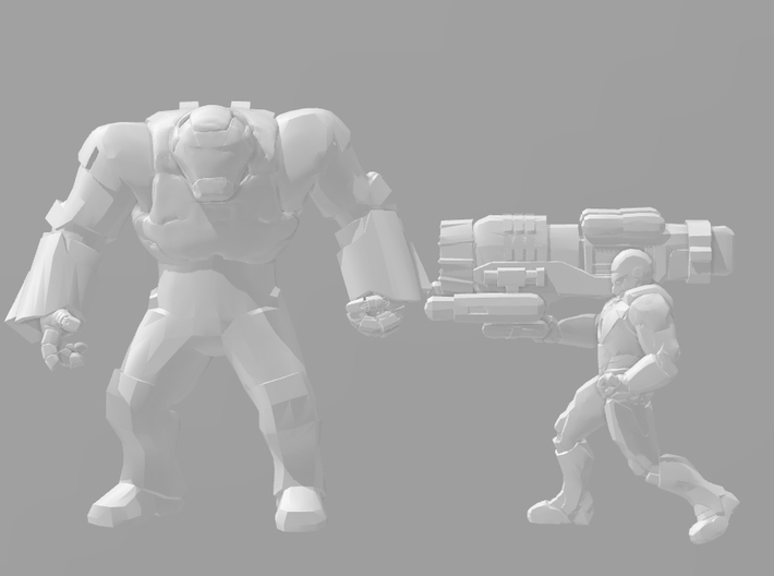 Ironman Mark 38 Igor 1/60 miniature for games rpg 3d printed