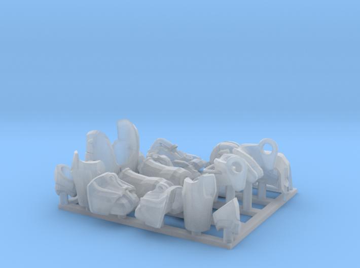 Exoskeleton armour parts 3d printed