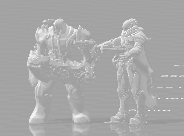 Darksiders Strife 1/60 miniature for games and rpg 3d printed