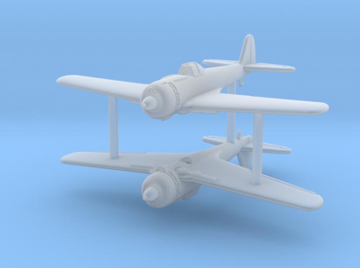 1/285 (6mm) Nakajima Ki-43 III Otsu (x2) 3d printed