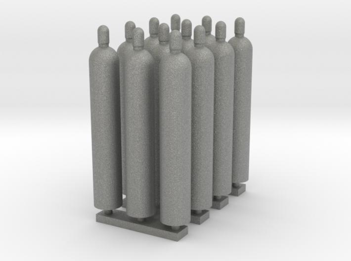 1:64 Gas Cylinders Pack of twelve 3d printed