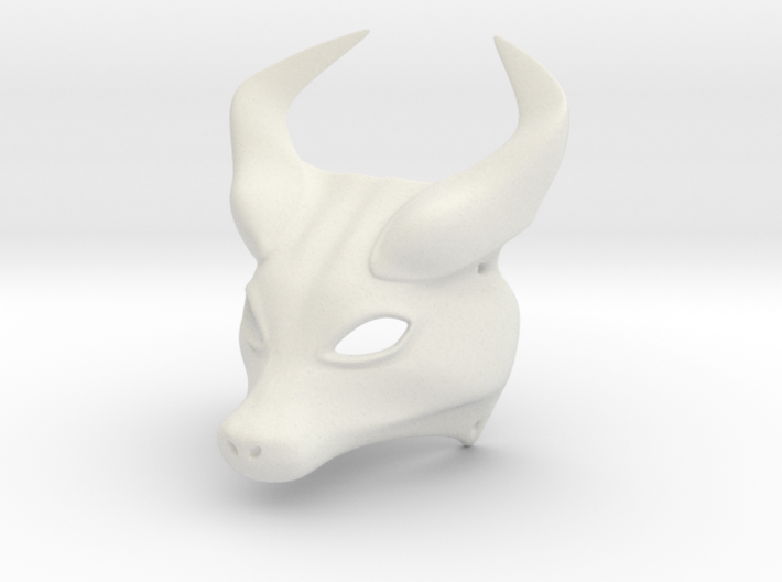 Horned Mask 3d printed