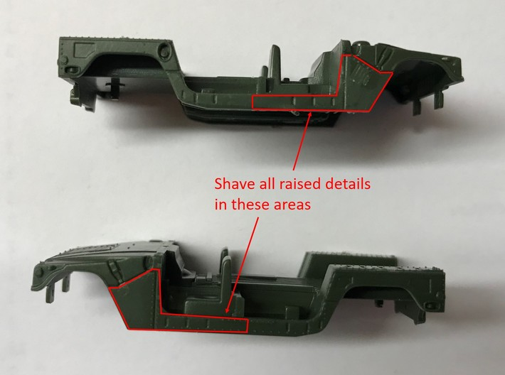 M1152 Humvee Armor 3d printed Shave raised details as shown
