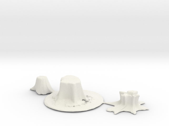 HO Scale stumps 2 3d printed This is a render not a picture