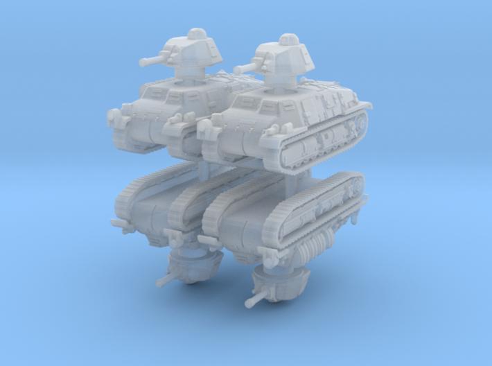Somua S35 (4 pieces) 1/200 3d printed
