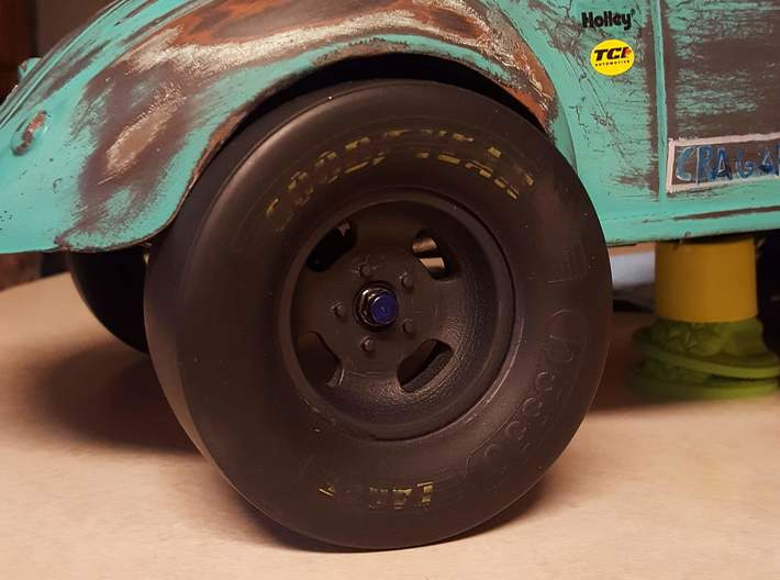MC537OP-ASE Romeo Palamides 1.9 In -3 mm Of Rr Wh 3d printed Actual 3D Printed Wheel on 1/10 RC Gasser