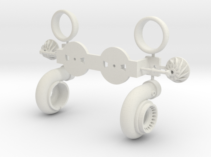 PM029-RC Pro Mod Twin Turbocharger Set 3d printed
