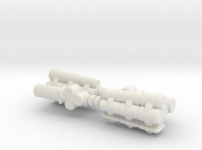 The Clubs of Two (Multisize) 3d printed