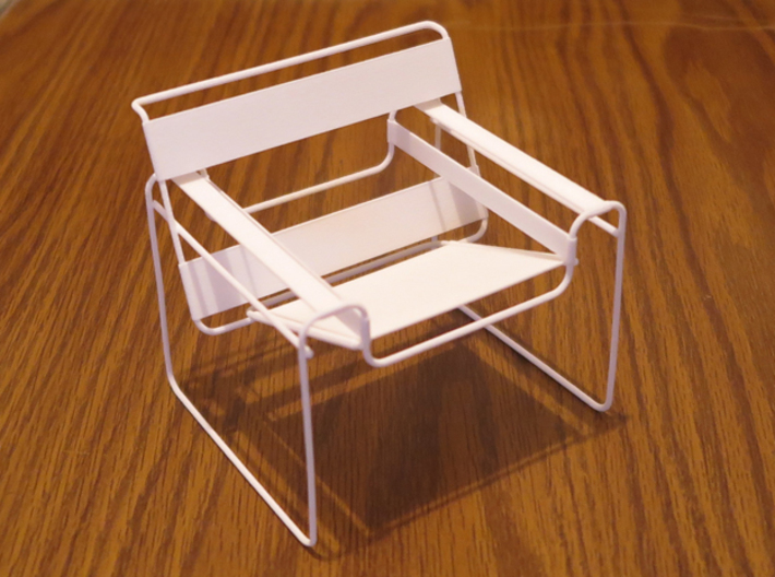 "Wassily Chair 3.7"" tall 3d printed"