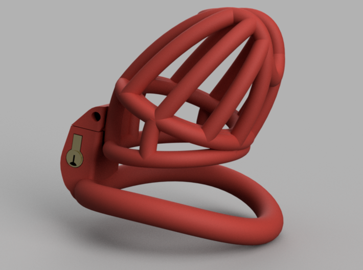 "The Cherry Keeper ""Headlock"" Cage - Long Wide 3d printed Medium Headlock Shown"