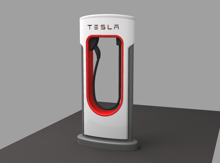 TESLA FAST CHARGER Scale 1/32 3d printed