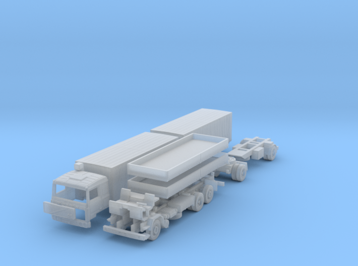 SET Volvo F10 6x2 Pritsche Plane mit Anhänger (N) 3d printed