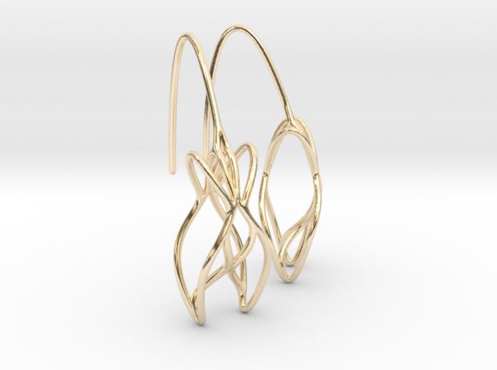 leontine earring pair 3d printed