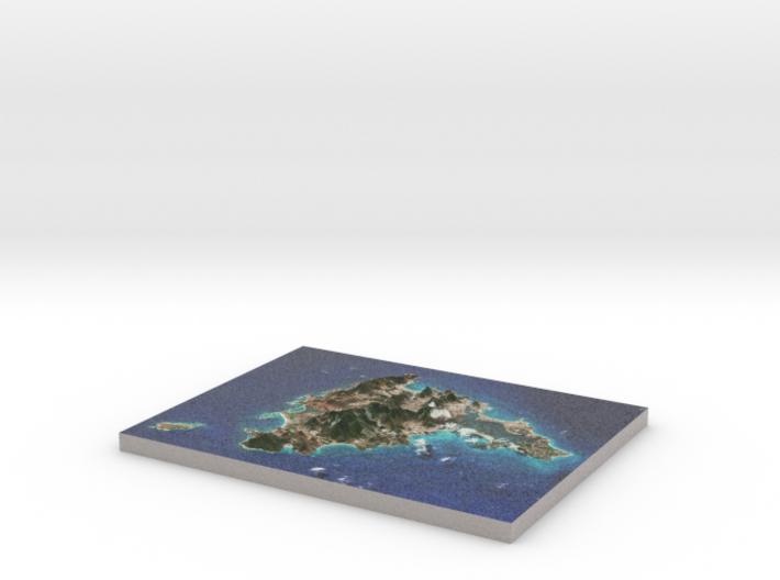 Saint Martin / Sint Maarten Terrain Map 3d printed