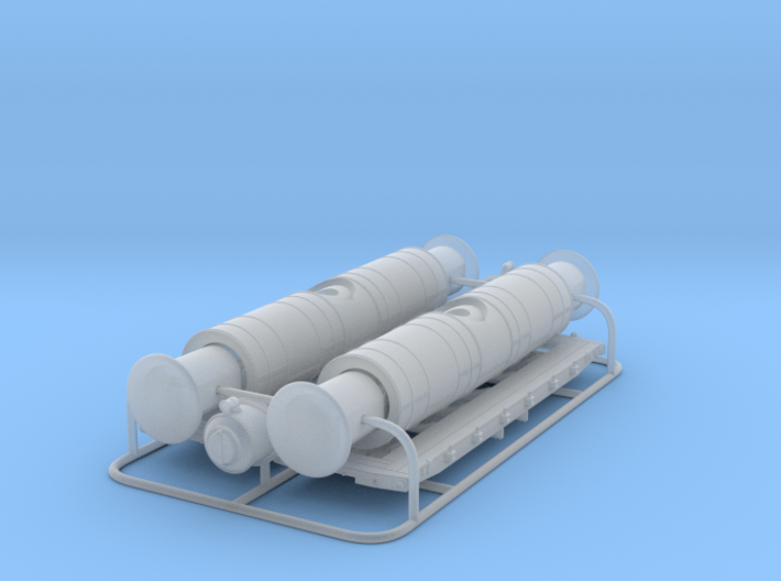 N scale 19th Century Oil Tank Car - Twin Pack 3d printed