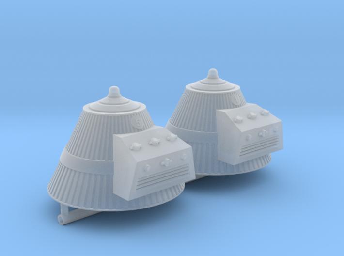 SPACE 2999 1/72 SILO CAPS 3d printed