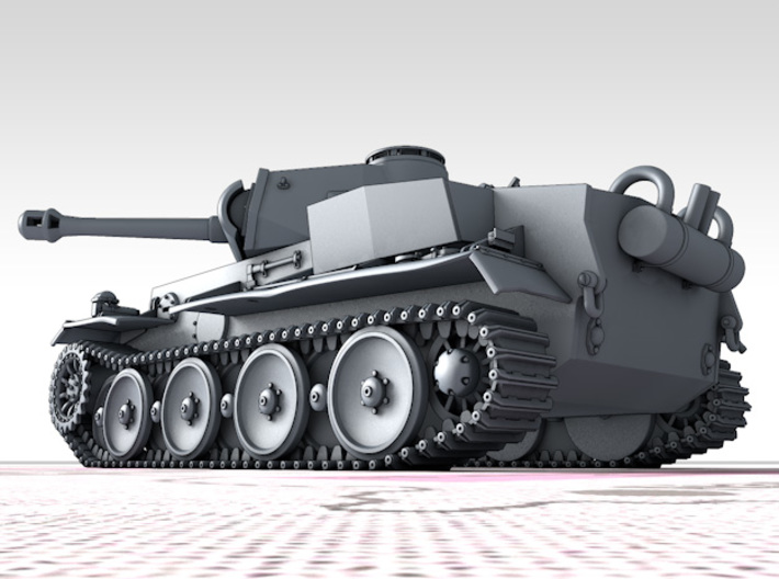 1/160 (N) Pz.Kpfw VI VK36.01 (H) 10.5cm L/28 Tank 3d printed 3d render showing product detail