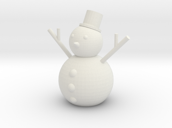[1DAY_1CAD] SNOWMAN 3d printed
