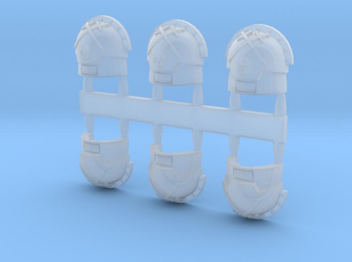 warbringers compound Shoulder Pads skulls variant 3d printed