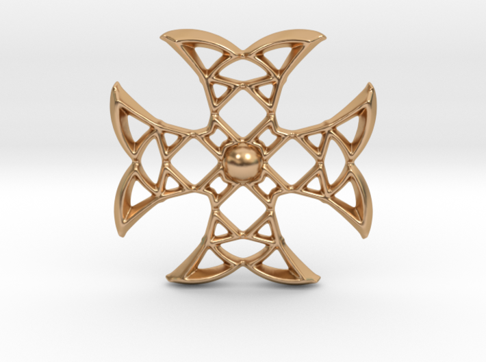 Pointed Cross 3d printed