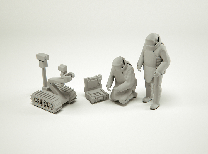 Soldiers EOD Squad at HO Scale 3d printed