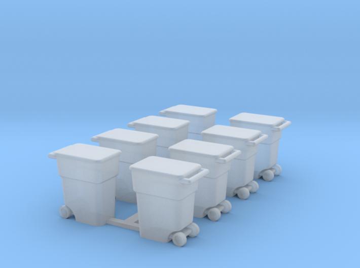 Trash Cans 3d printed Part # TC-001