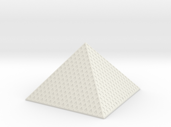 Louvre Pyramid 1/1000 3d printed