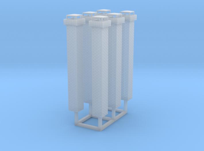 1:160 Brick Chimneys (6) 3d printed