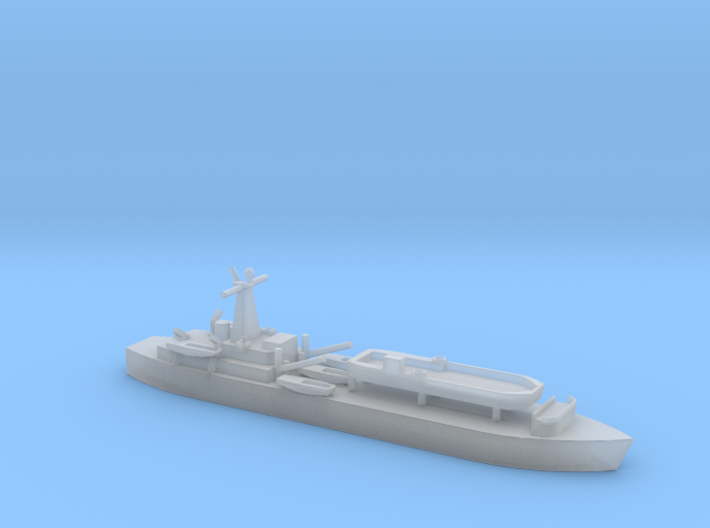 1/1800 Scale British LST-3 with LCT 6 3d printed