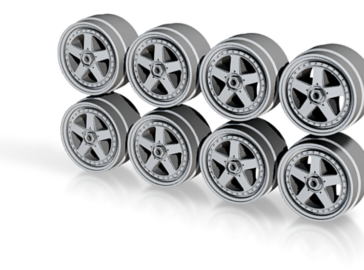 Calsonic R32 Skyline Hot Wheels Rims 3d printed