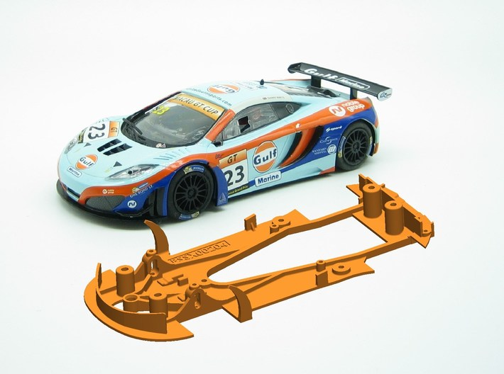 PSSX00204 Chassis Scalextric McLaren MP4-12 3d printed