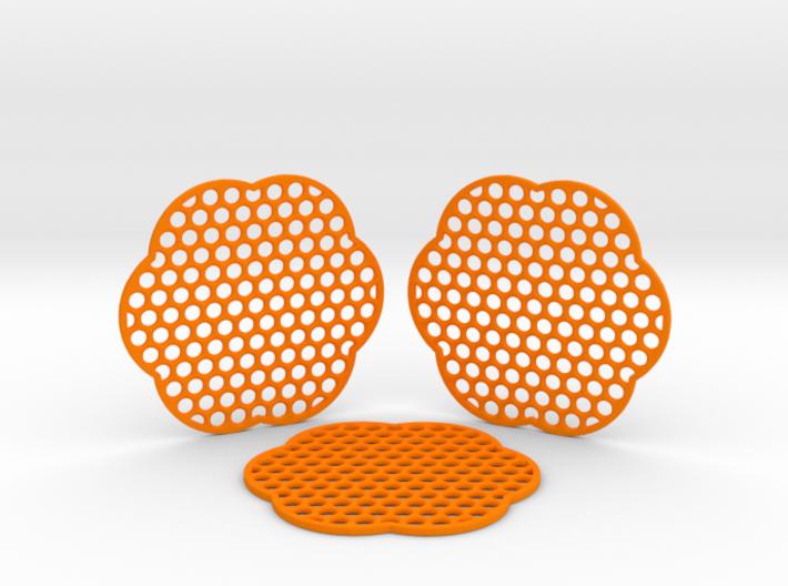 Grid Coasters 3d printed