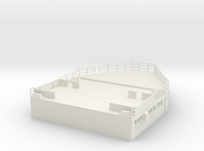 1/100 DKM ScharnhorstAft Superstructure Deck 3d printed