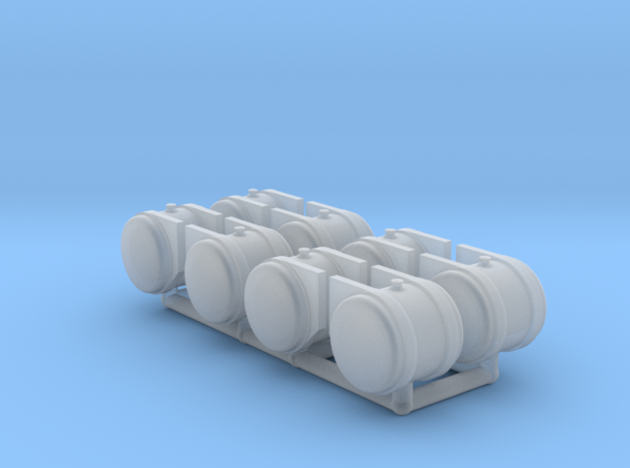 HO scale 50 gallon Hydraulic Oil Tanks 3d printed