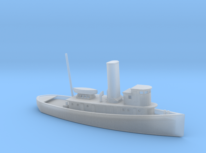 1/600 Scale 100 foot wooden harbor tug Retriever 3d printed