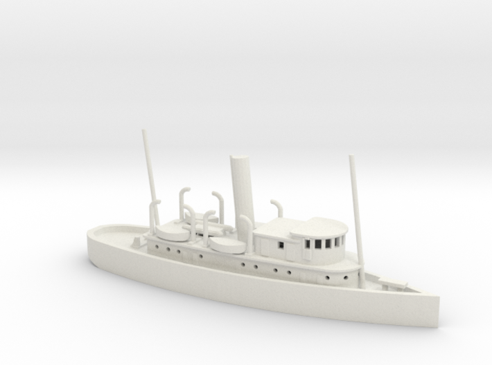 1/350 Scale 125-foot wooden ocean tug Artisan 3d printed