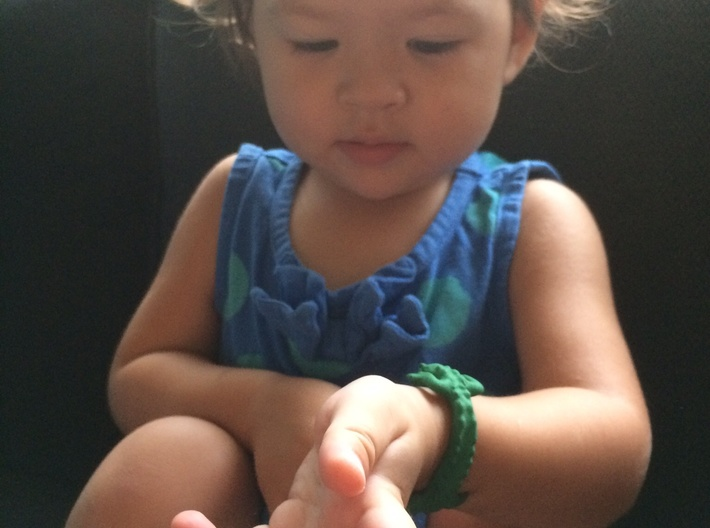 Crocodile Bracelet (toddler size)  3d printed