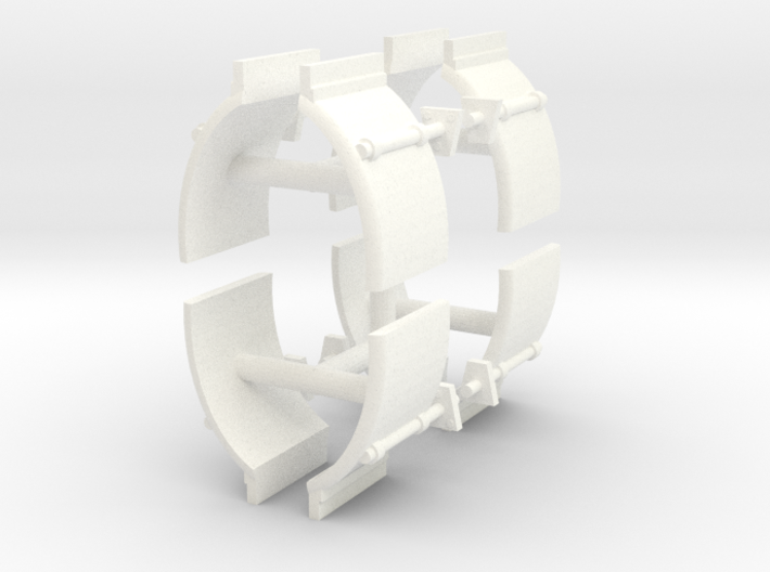 1/50th Truck Quarter Fenders smooth, 4 sets 3d printed
