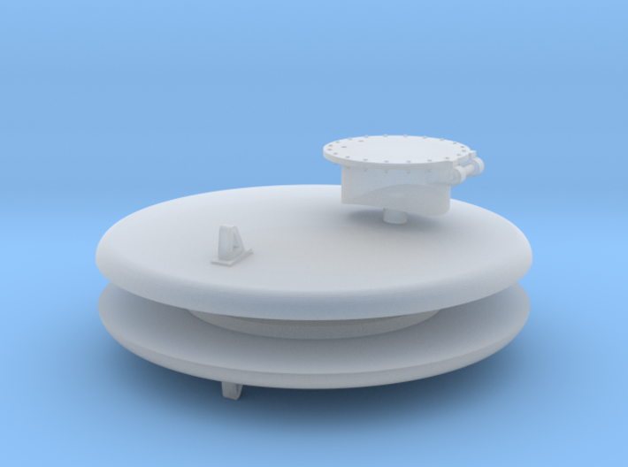 HOn3 USG Trinity Water Car Tank Ends & Hatch 3d printed