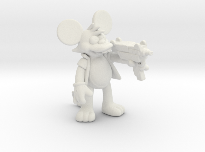 Simpsons Itchy 1/60 miniature for games and rpg 3d printed