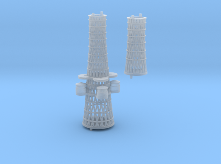 1/350 1919 US Small Battleship Design A7 Cage Mast 3d printed